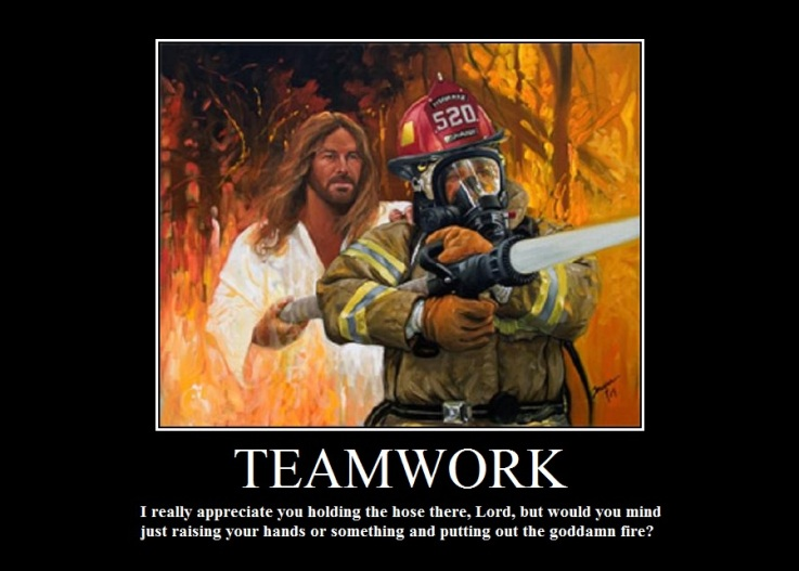 firefighter jesus teamwork