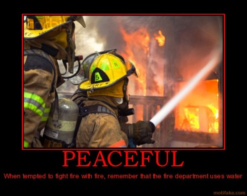 firefighter peace
